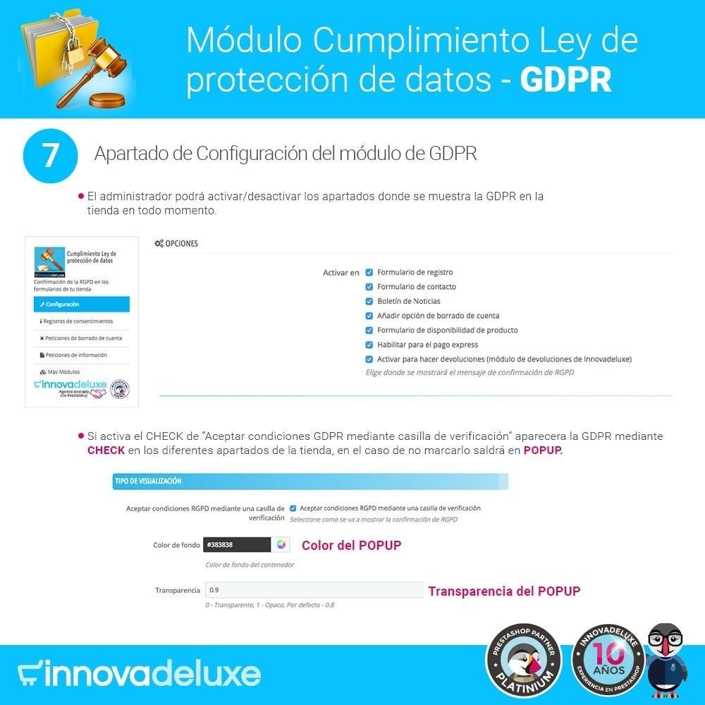 module - Marco Legal (Ley Europea) - Cumplimiento Ley de protección de datos - RGPD - 12