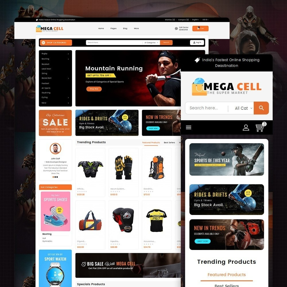 theme - Sport, Aktivitäten & Reise - Mega Cell Sports Equipment - 2