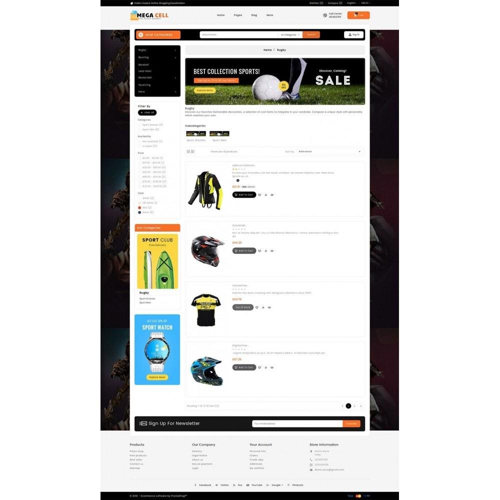 theme - Sport, Aktivitäten & Reise - Mega Cell Sports Equipment - 5