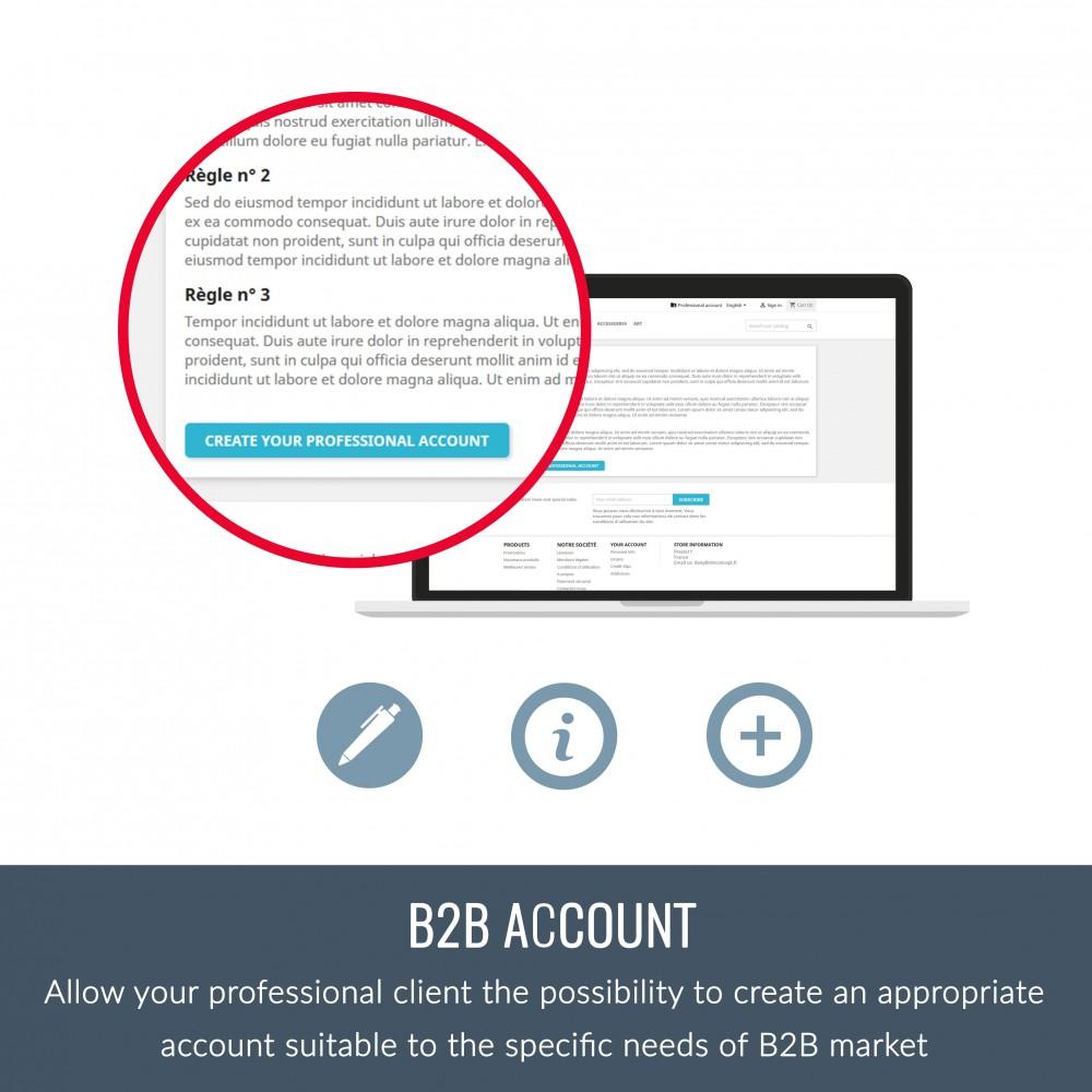 module - B2B - Professionnal account (B2B) - 3