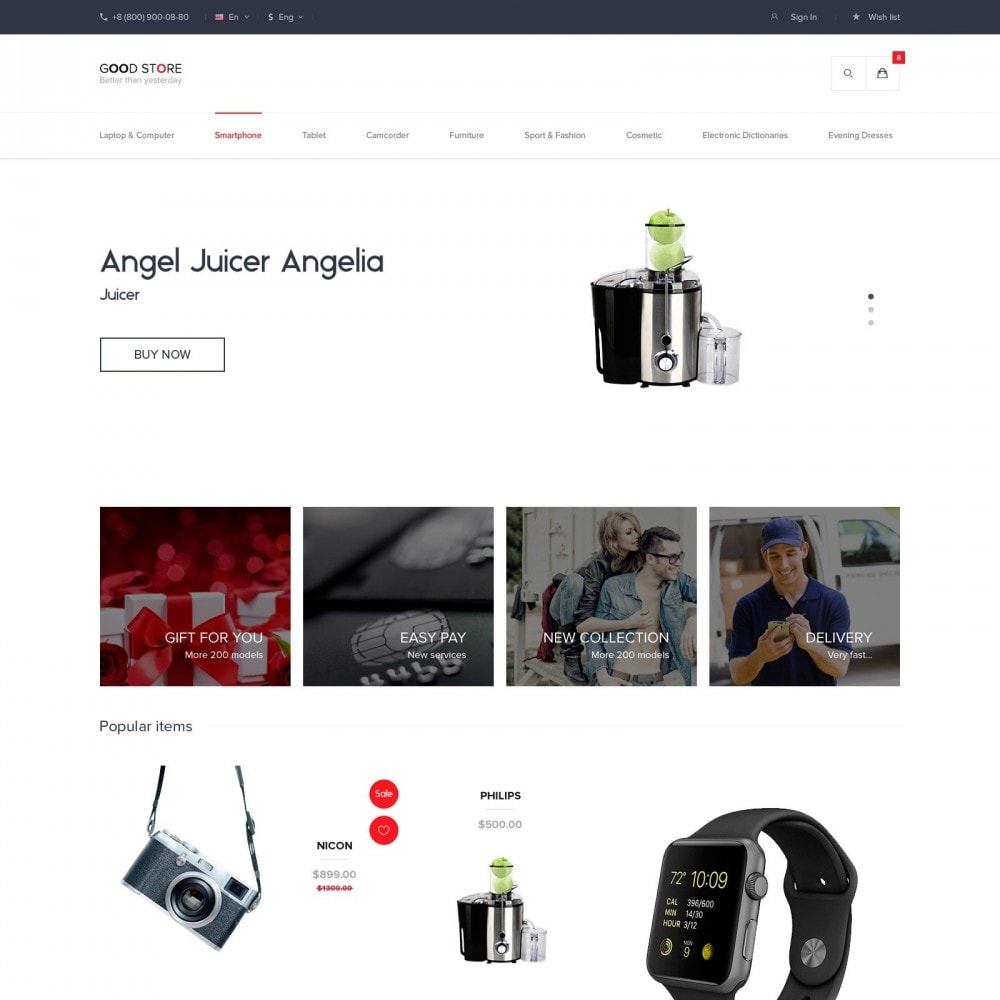theme - Electrónica e High Tech - Duos Shop Electronics - 3