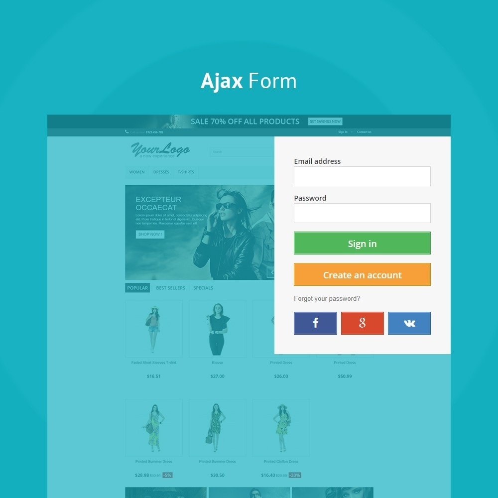 module - Social Login & Connect - JX Header Account 1.7 - 5
