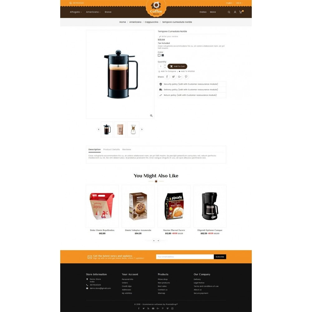 theme - Alimentation & Restauration - Coffee House - 6