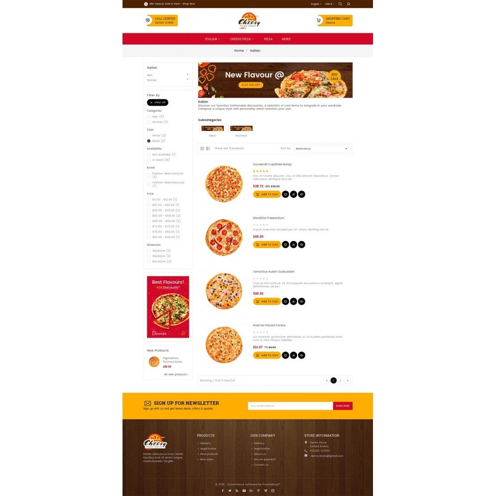 theme - Alimentation & Restauration - Cheesy Pizza - Fast Food - 5