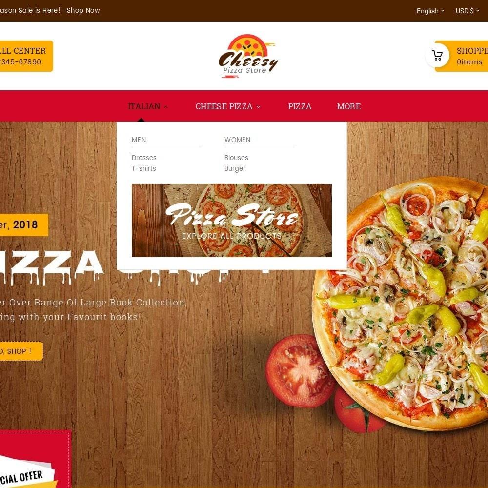 theme - Alimentation & Restauration - Cheesy Pizza - Fast Food - 9