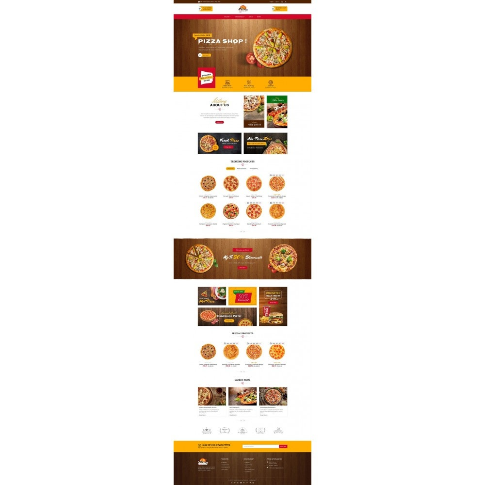 theme - Lebensmittel & Restaurants - Cheesy Pizza - Fast Food - 3