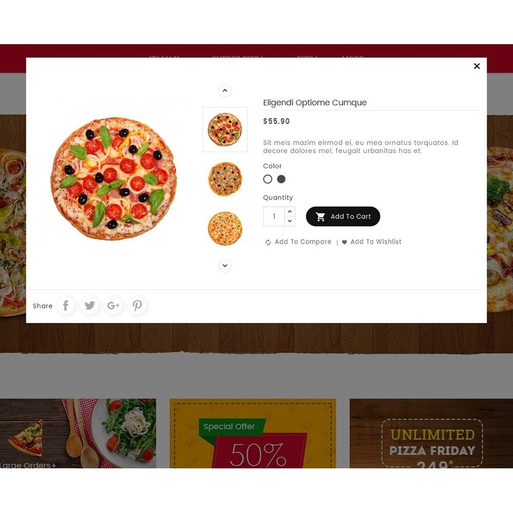 theme - Lebensmittel & Restaurants - Cheesy Pizza - Fast Food - 8