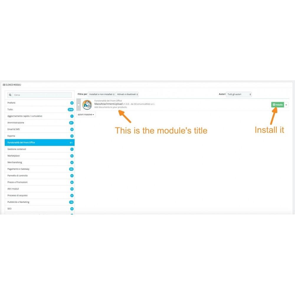 module - Data Import & Export - Upload massivo di allegati - 2