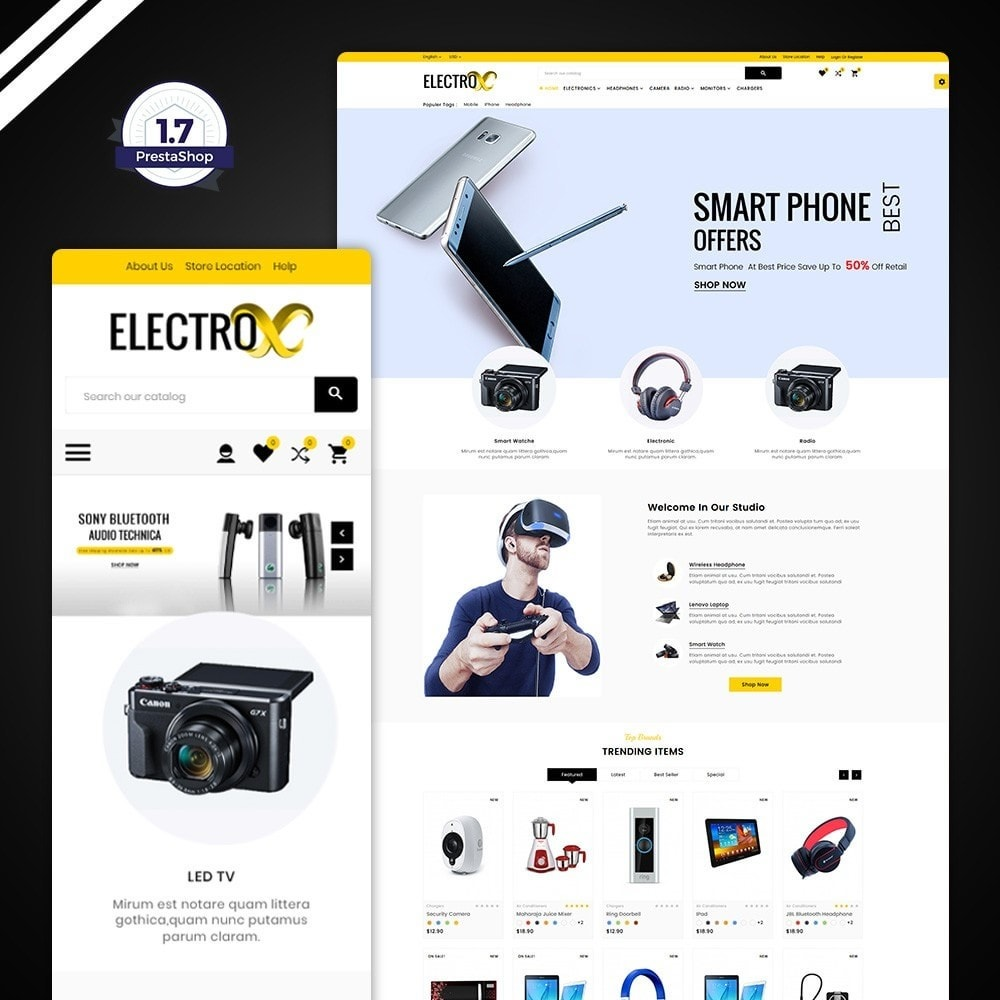 theme - Elettronica & High Tech - Electro – Electronic Mega Store - 1