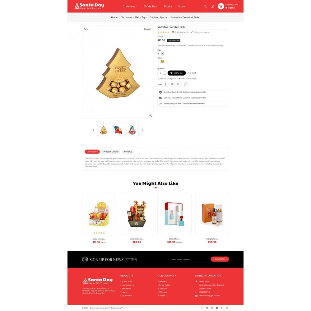 theme - Regali, Fiori & Feste - Santa Gift Store - 6