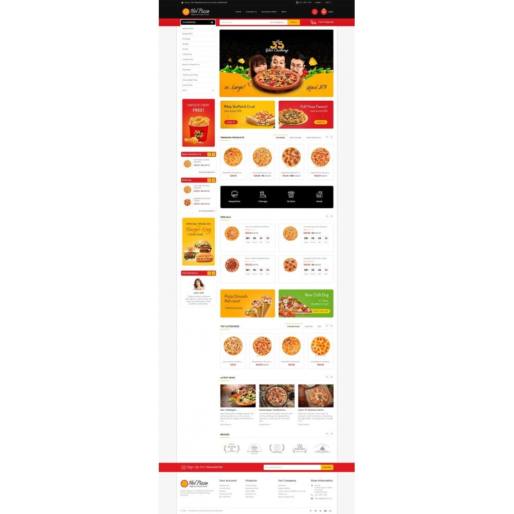 theme - Alimentation & Restauration - Paprika Pizza - Fast Food - 3