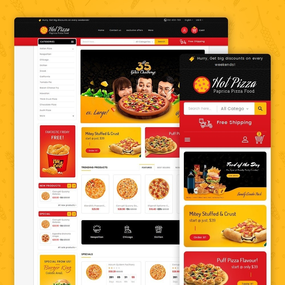 theme - Lebensmittel & Restaurants - Paprika Pizza - Fast Food - 2