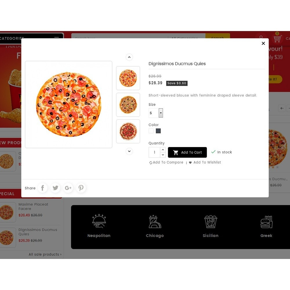 theme - Lebensmittel & Restaurants - Paprika Pizza - Fast Food - 8