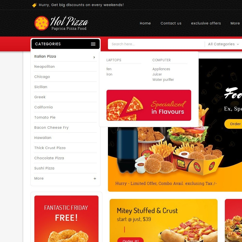 theme - Lebensmittel & Restaurants - Paprika Pizza - Fast Food - 9
