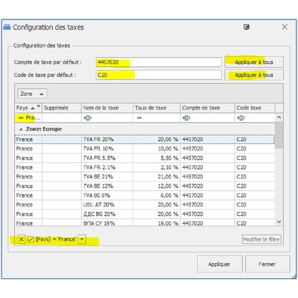 module - Import & Export de données - Atoo-Sync Export Compta - 3