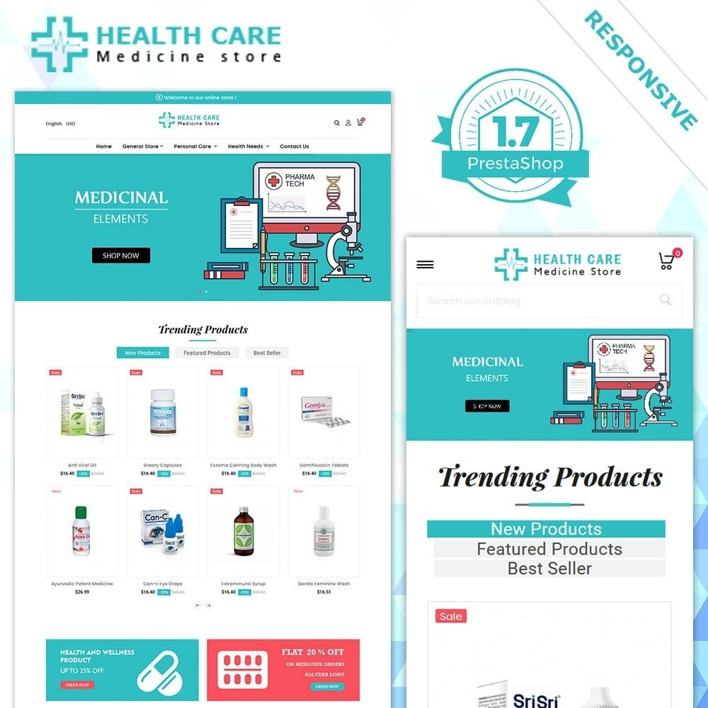 theme - Здоровье и красота - Магазин медикаментов - 2