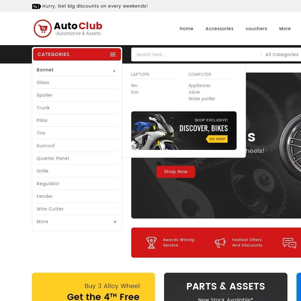 theme - Coches y Motos - Mega Auto Parts - 9