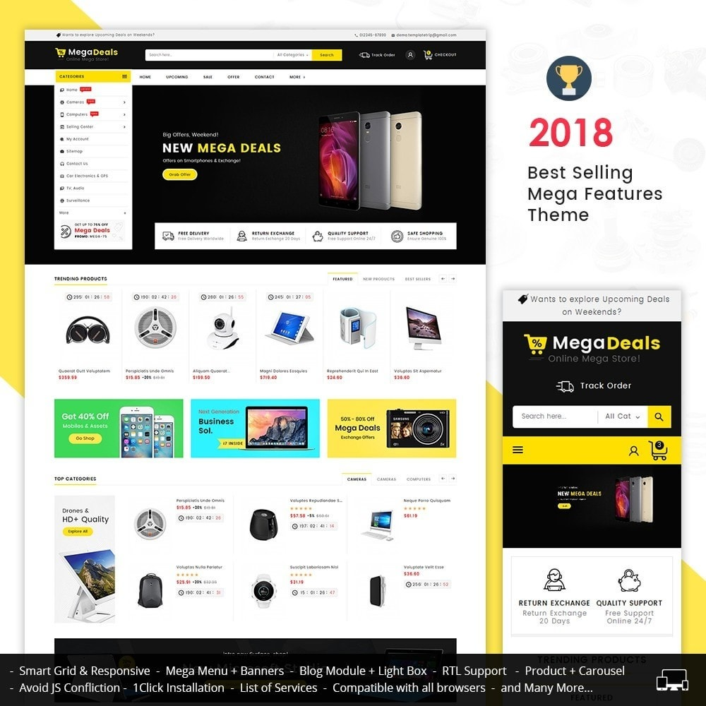 theme - Elektronika & High Tech - Mega Deals Electronics Mart - 1
