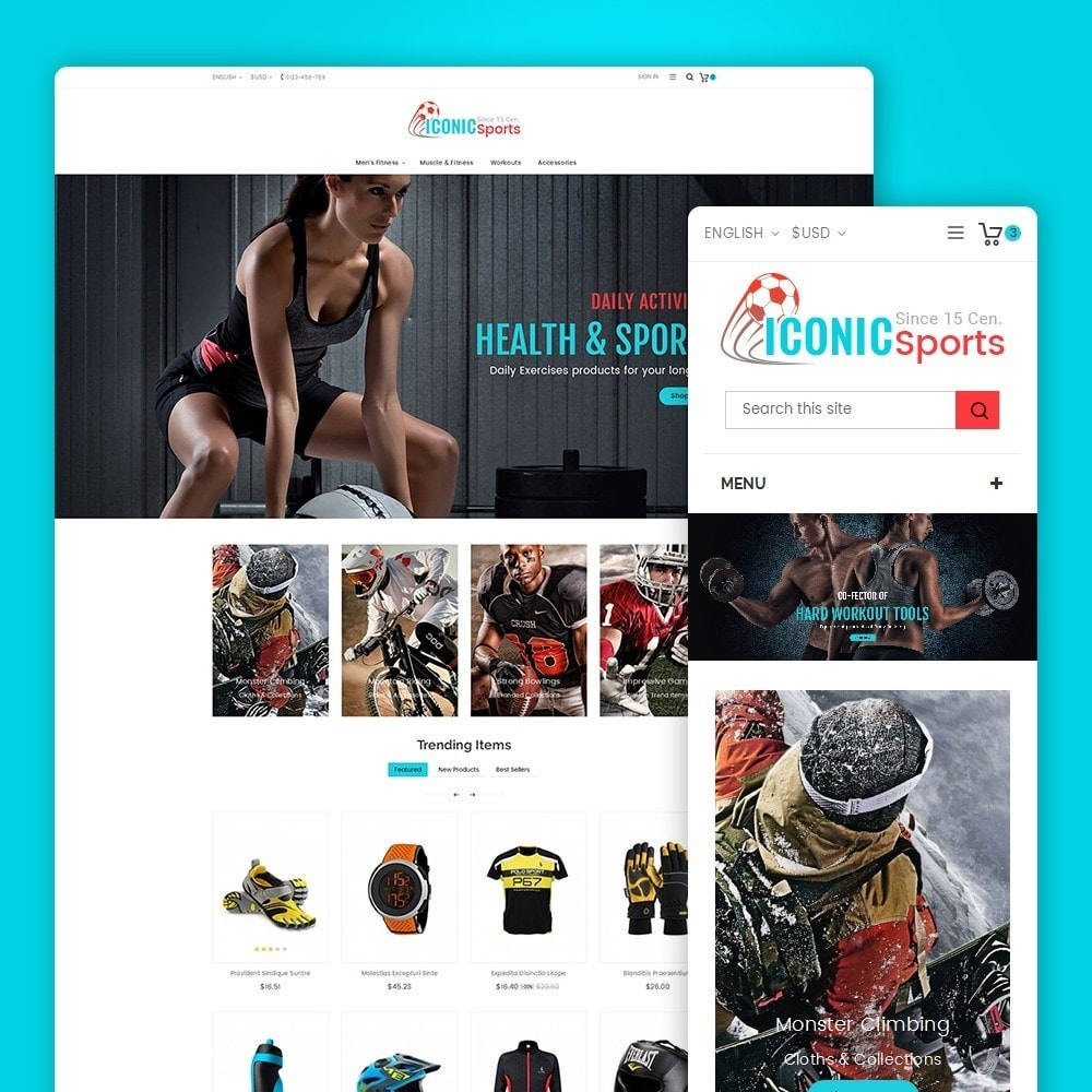 theme - Sport, Loisirs & Voyage - Iconic Sports Store - 2