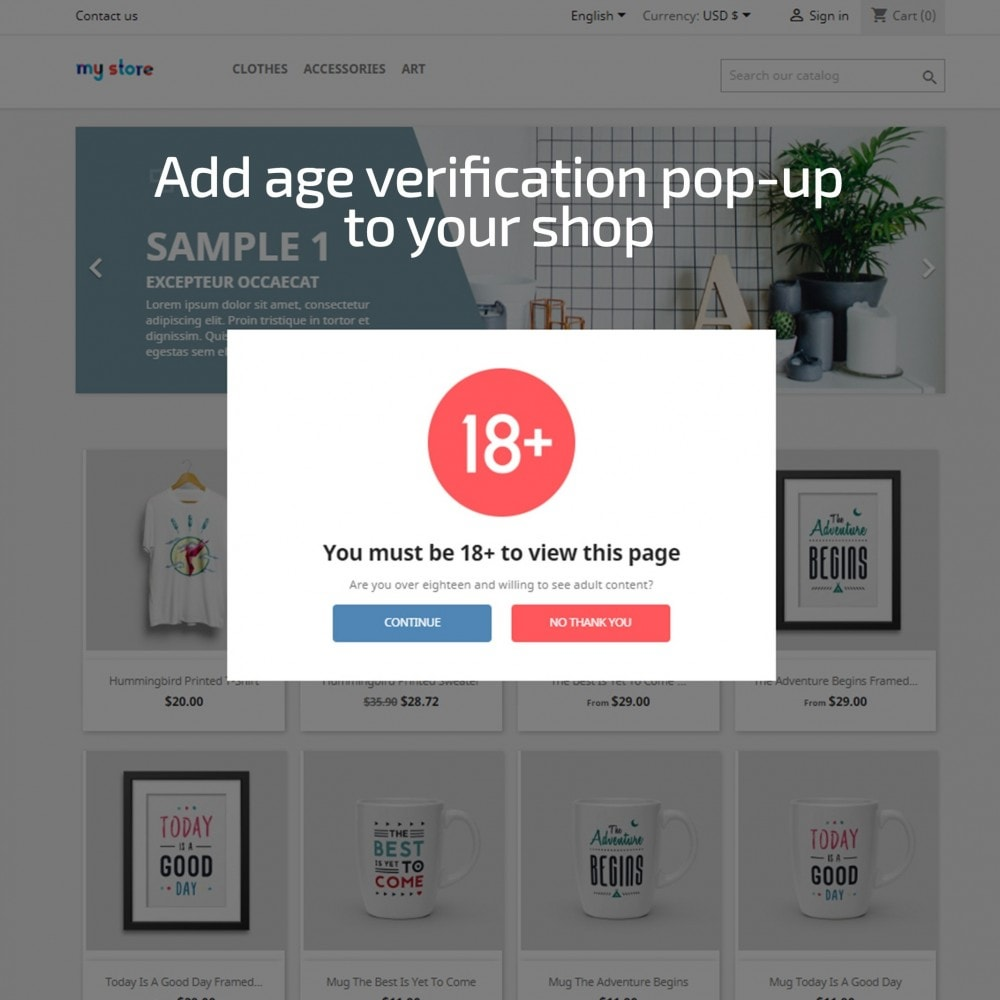 module - Sicherheit & Brechtigungen - AN Age Verification Popup - 1