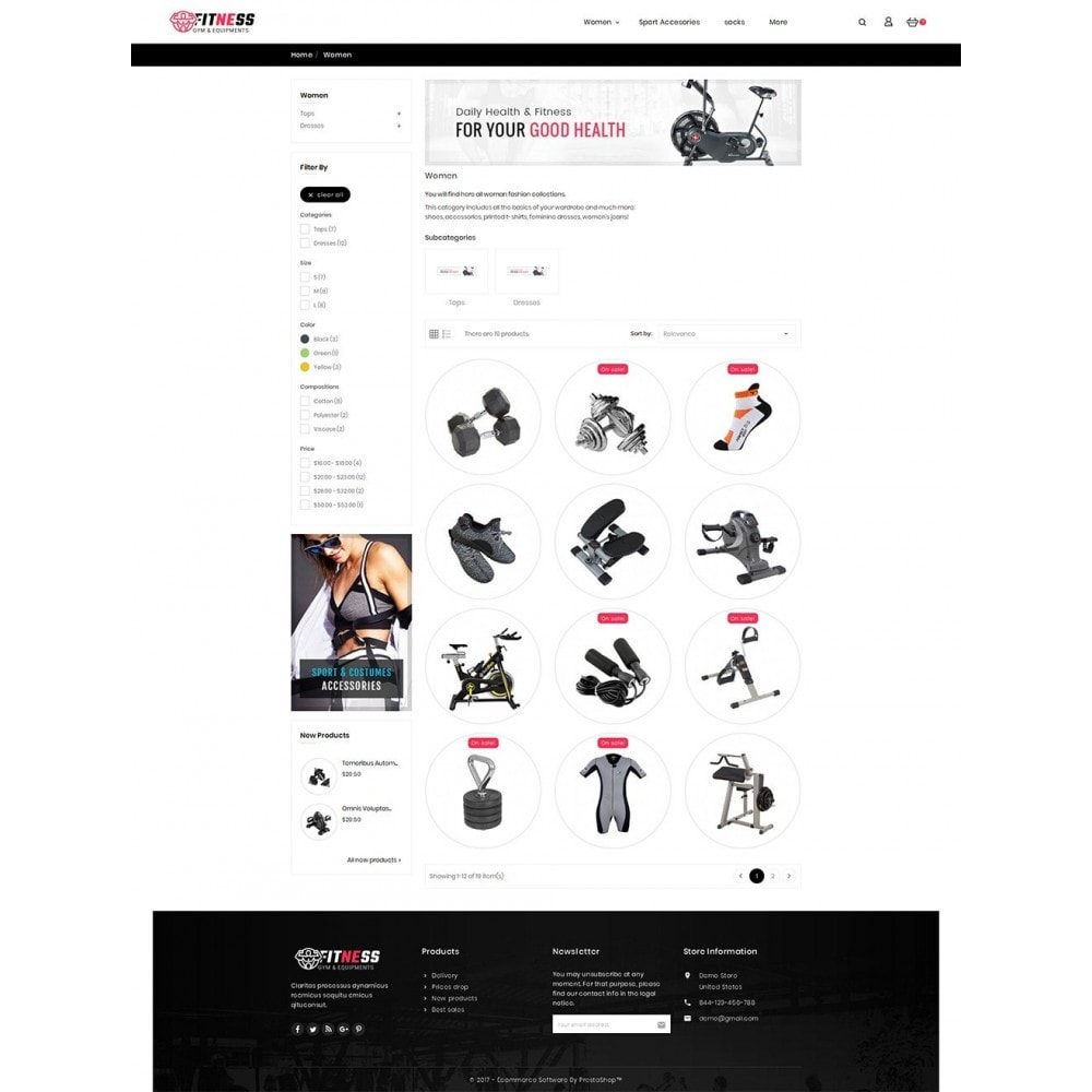 theme - Sport, Attività & Viaggi - Fitness Gym Equipment - 4