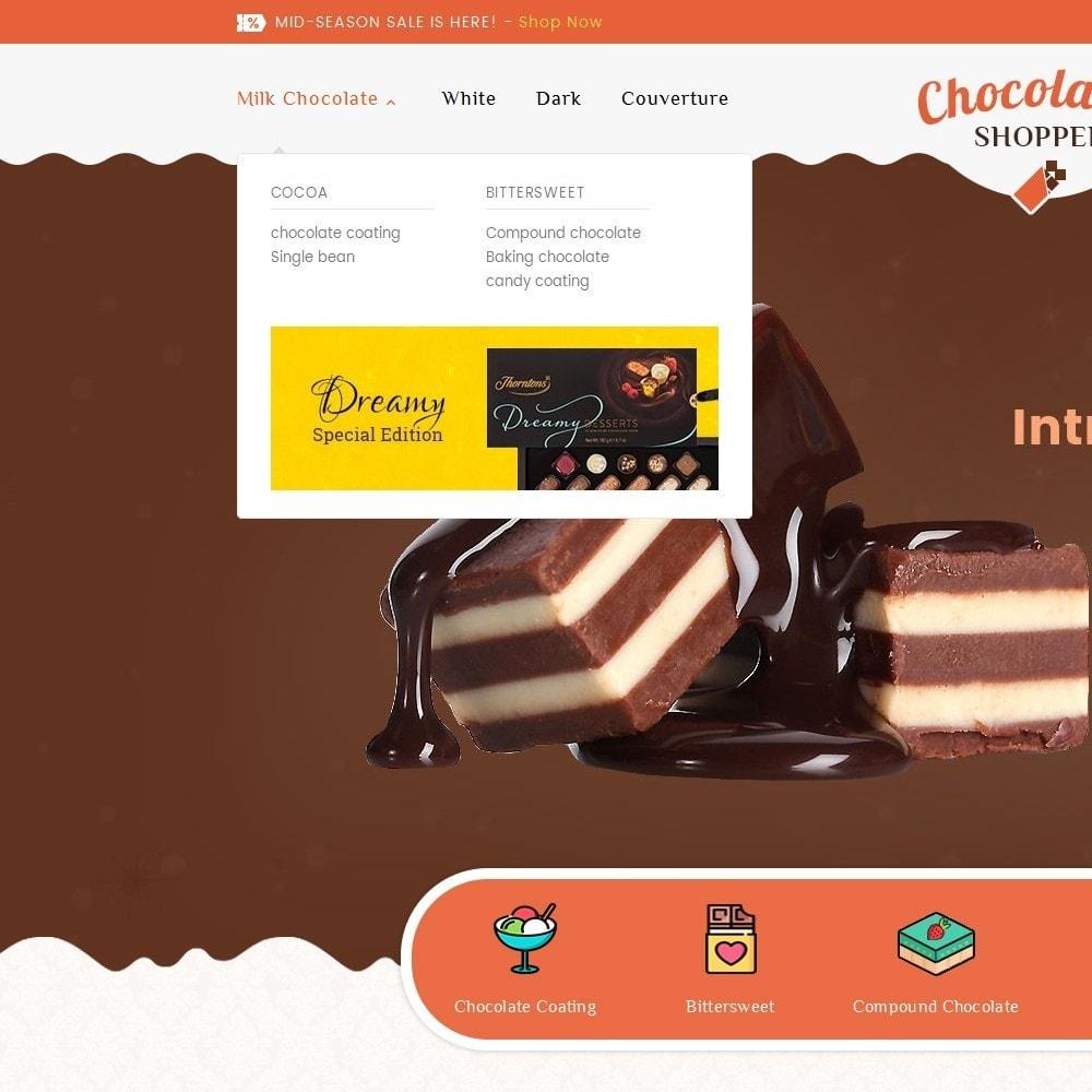 theme - Cadeaux, Fleurs et Fêtes - Chocolate Cream - 9