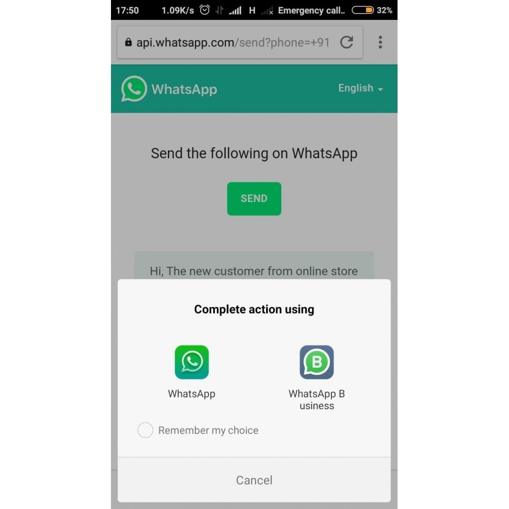 module - Ondersteuning & Online chat - WhatsApp Chat Support - 5