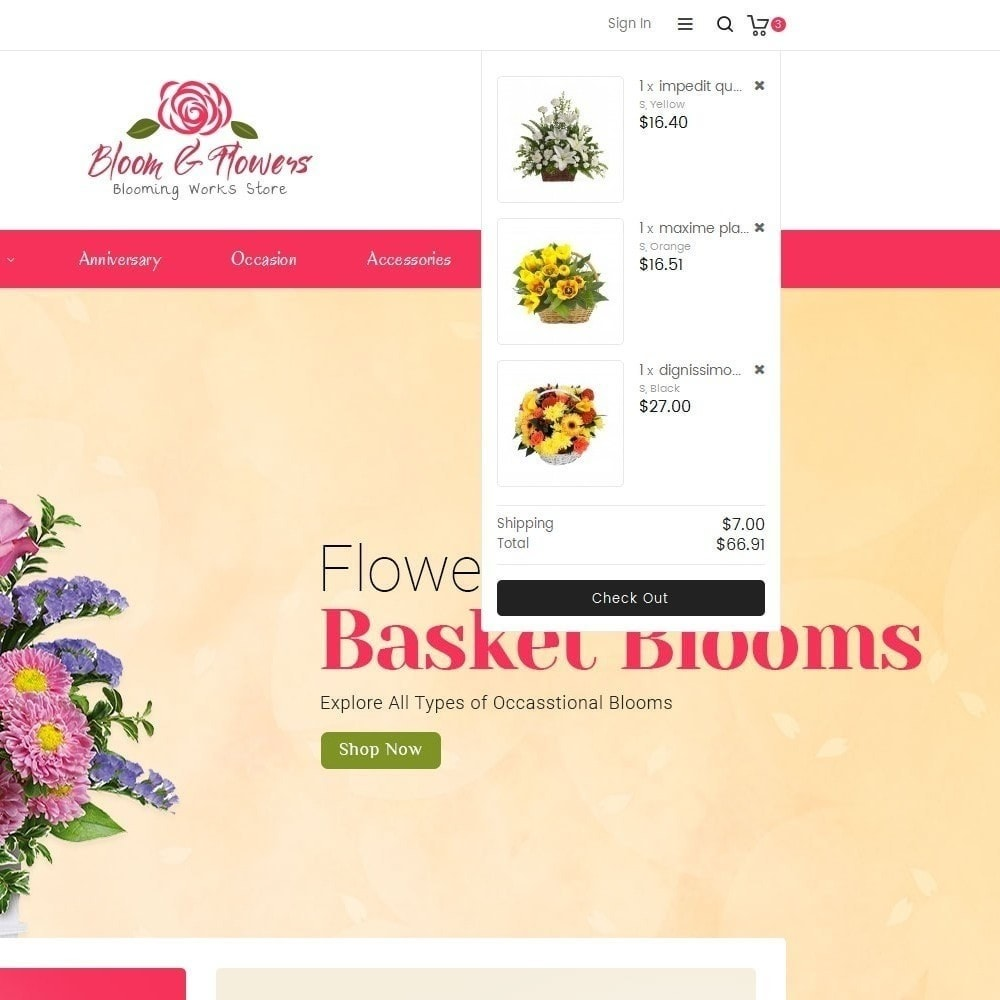 theme - Regalos, Flores y Celebraciones - Bloom Flower Store - 10