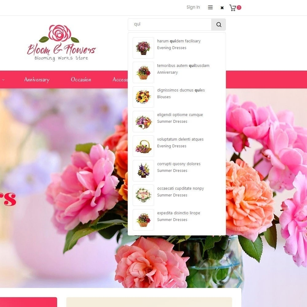 theme - Regalos, Flores y Celebraciones - Bloom Flower Store - 11
