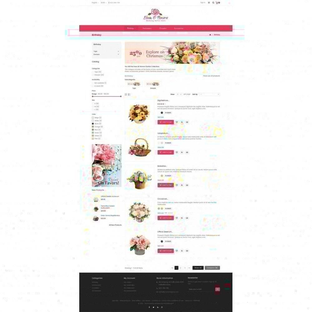 theme - Cadeaux, Fleurs et Fêtes - Bloom Flower Store - 5