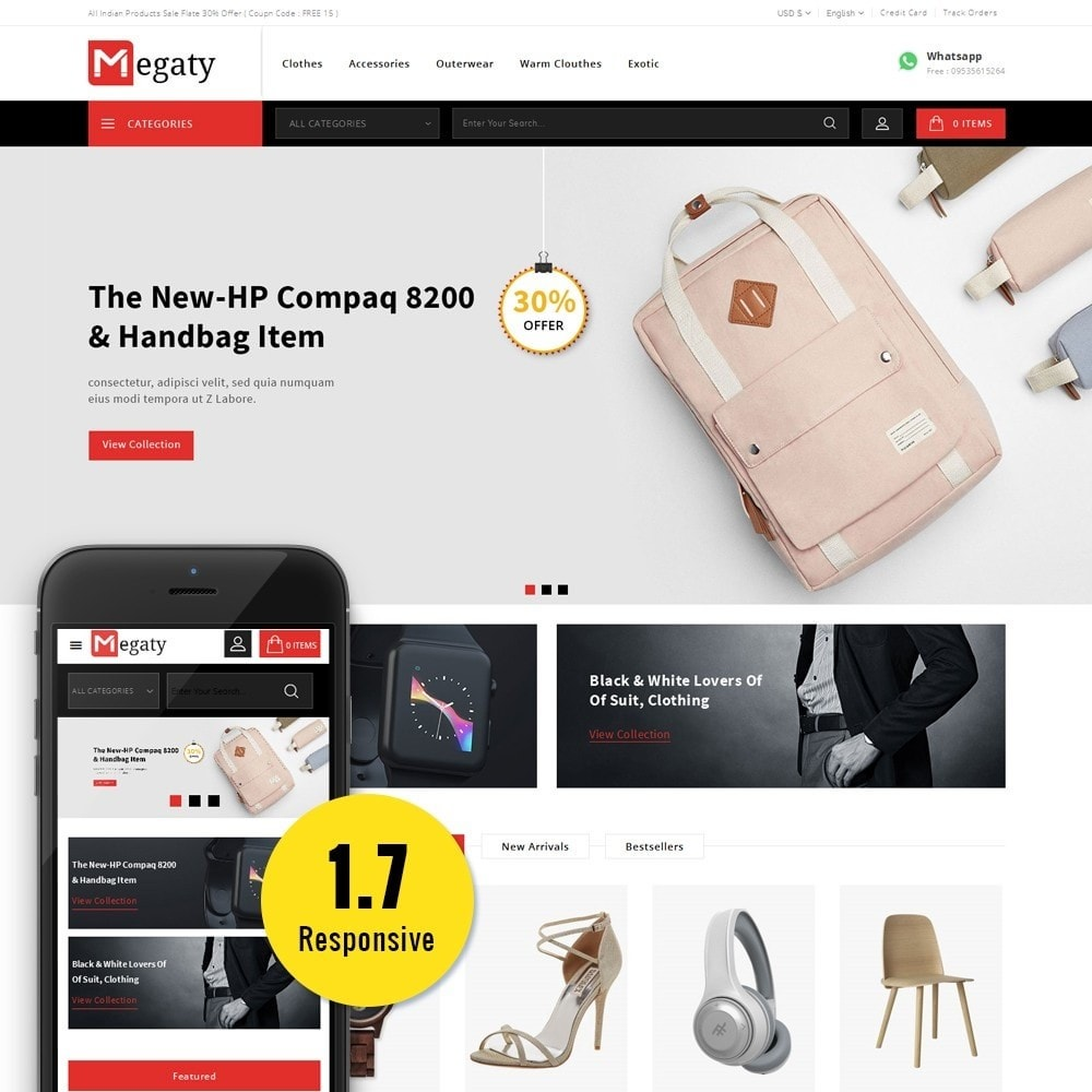 theme - Mode & Chaussures - Megaty Store - 1