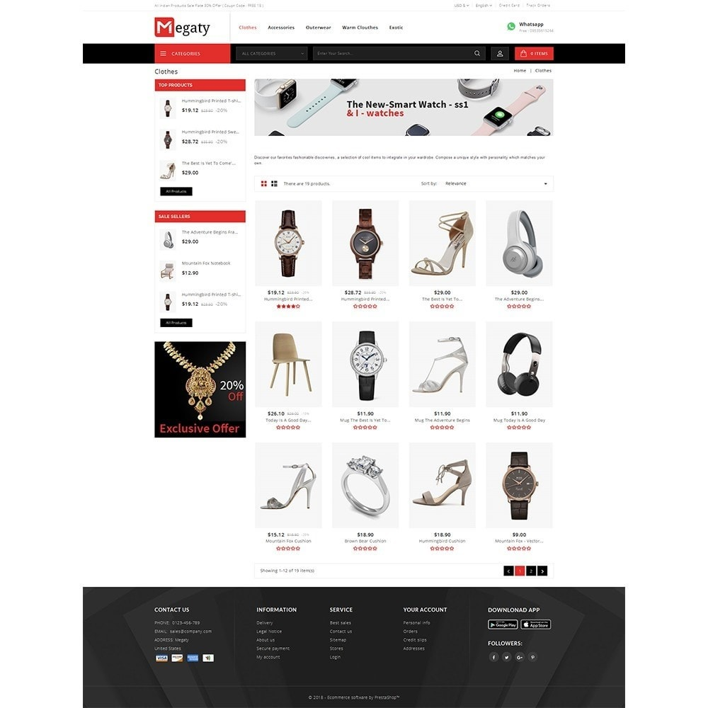 theme - Mode & Chaussures - Megaty Store - 3