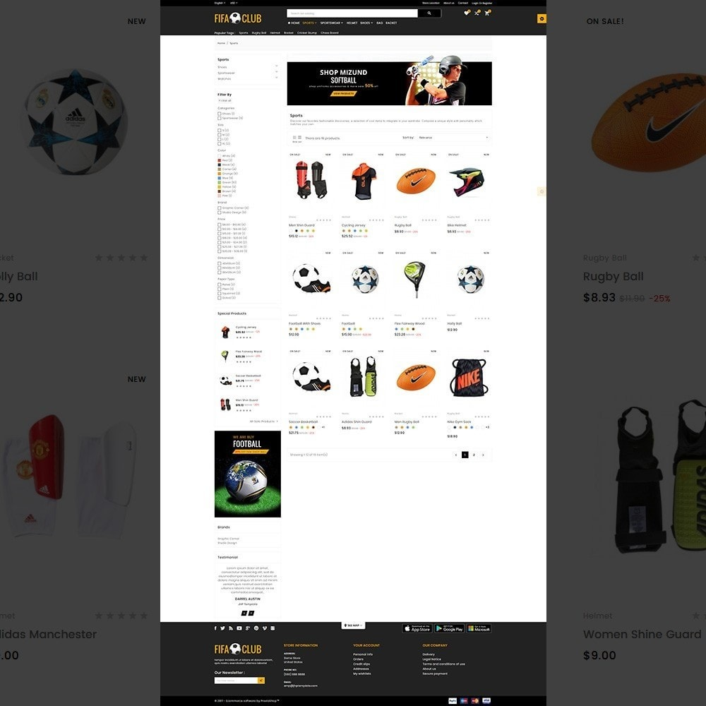 theme - Sports, Activities & Travel - Fifa Club Sports and Accessories Store - 3