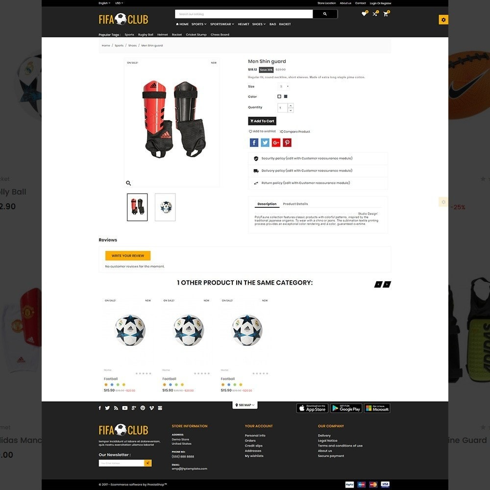 theme - Sport, Aktivitäten & Reise - Fifa Club Sports and Accessories Store - 4