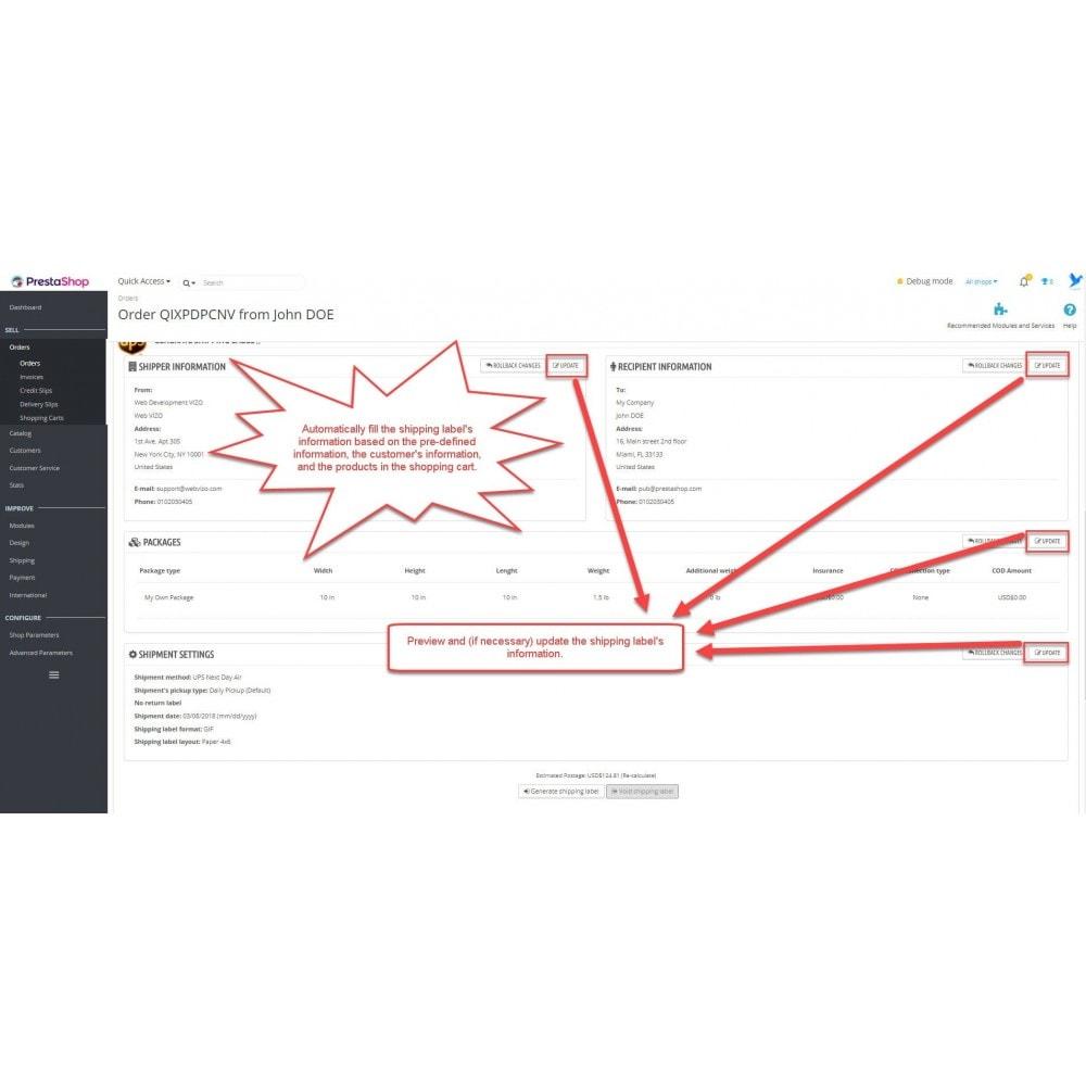 module - Przygotowanie & Wysyłka - UPS: shipping rates + shipping label printing - 19