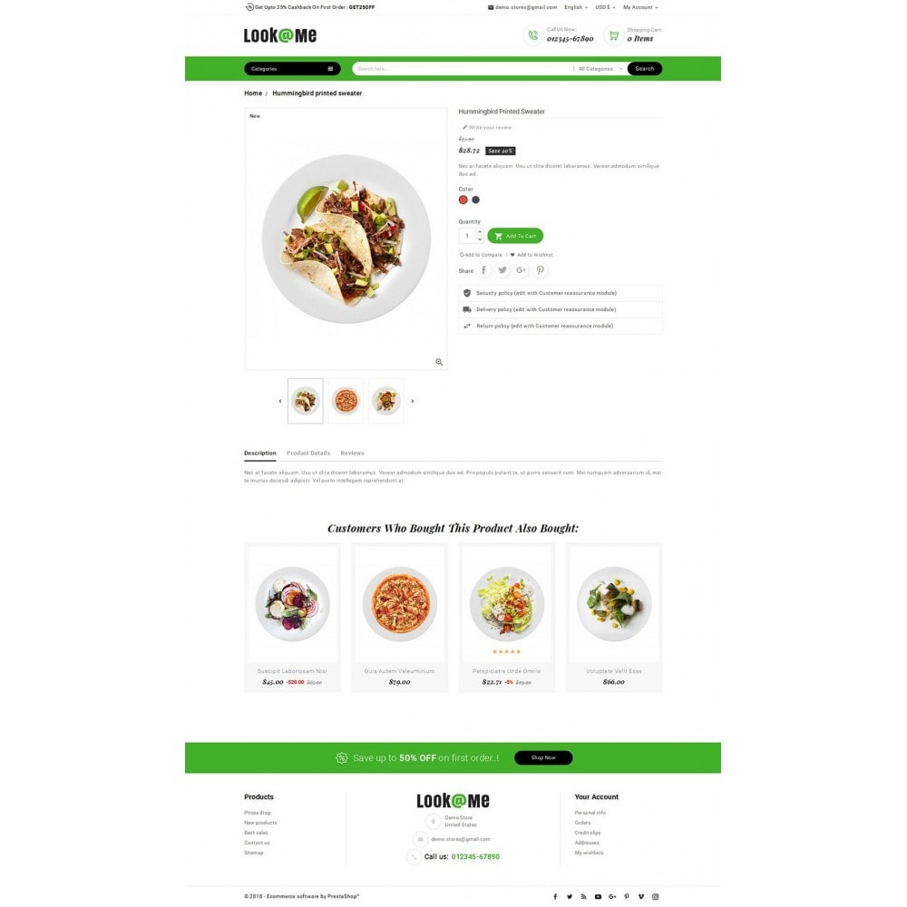 theme - Alimentos & Restaurantes - Look me Restaurant Food - 5
