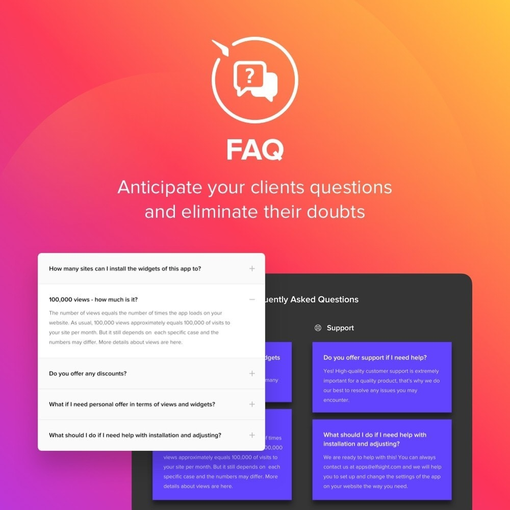 module - FAQ (Häufig gestellte Fragen) - Elfsight FAQ - 1