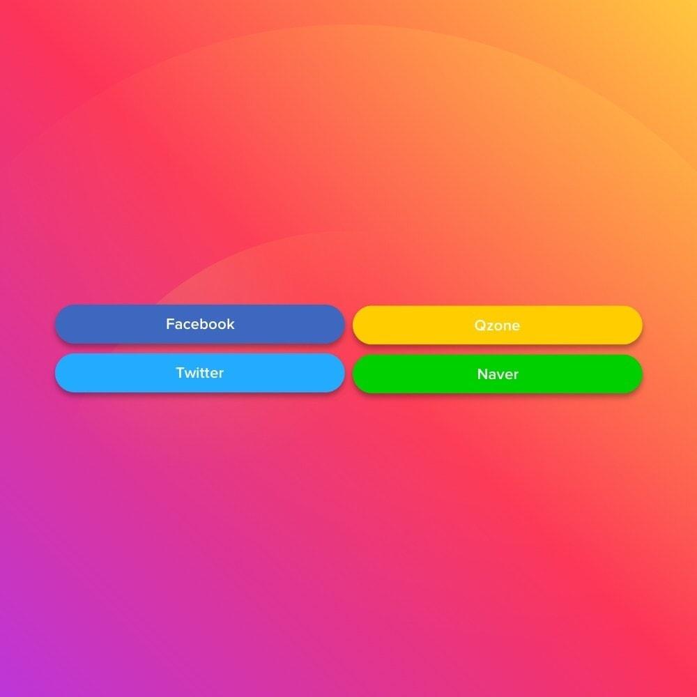 module - Boutons de Partage & Commentaires - Elfsight Social Share Buttons - 4