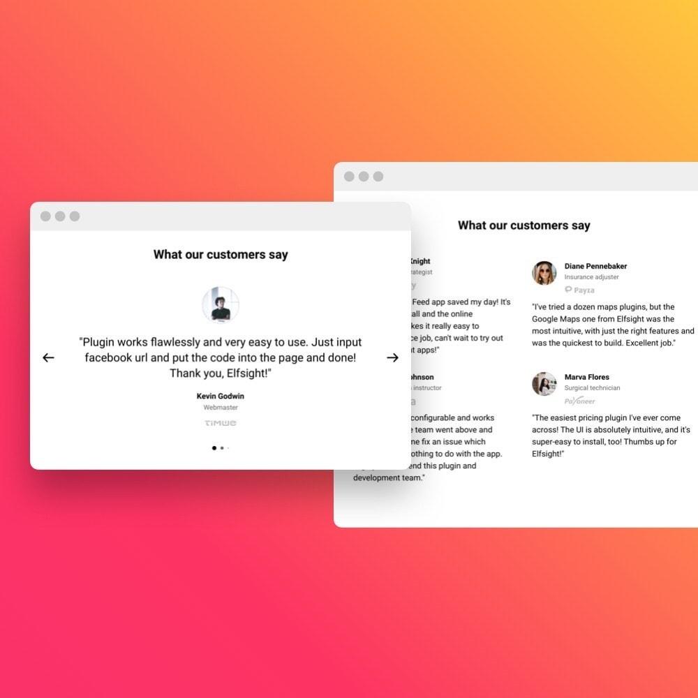 module - Opiniões de clientes - Elfsight Testimonials Slider - 3