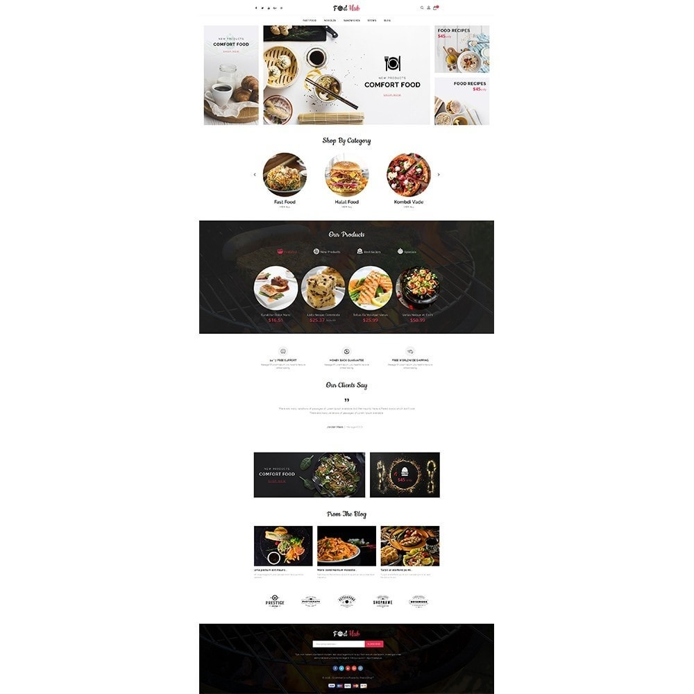 theme - Lebensmittel & Restaurants - FoodHub Demo Store - 2