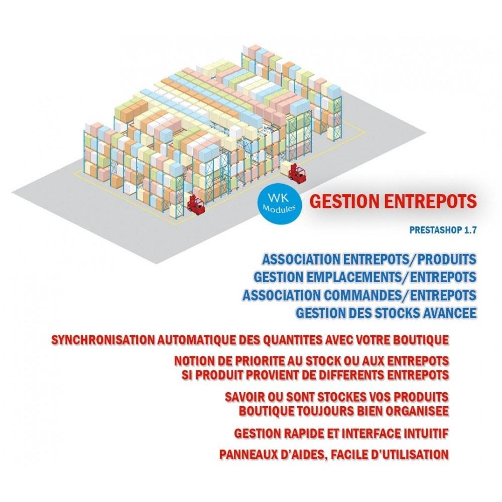 module - Gestion des Stocks & des Fournisseurs - Wk Gestion Entrepôts Pour Prestashop 1.7 - 1