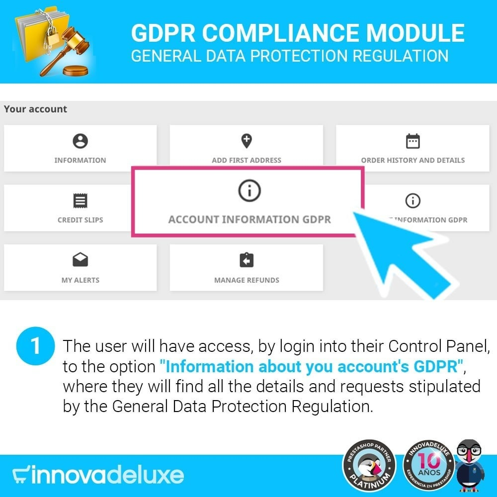 module - Legal - Data privacy extended (data protection law) - GDPR - 2