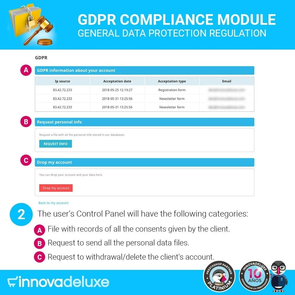 module - Juridisch - Data privacy extended (data protection law) - GDPR - 3