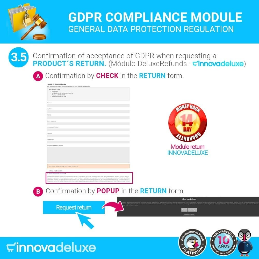 module - Legal - Data privacy extended (data protection law) - GDPR - 8