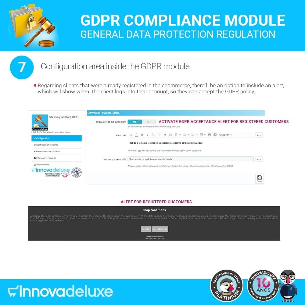 module - Juridisch - Data privacy extended (data protection law) - GDPR - 14