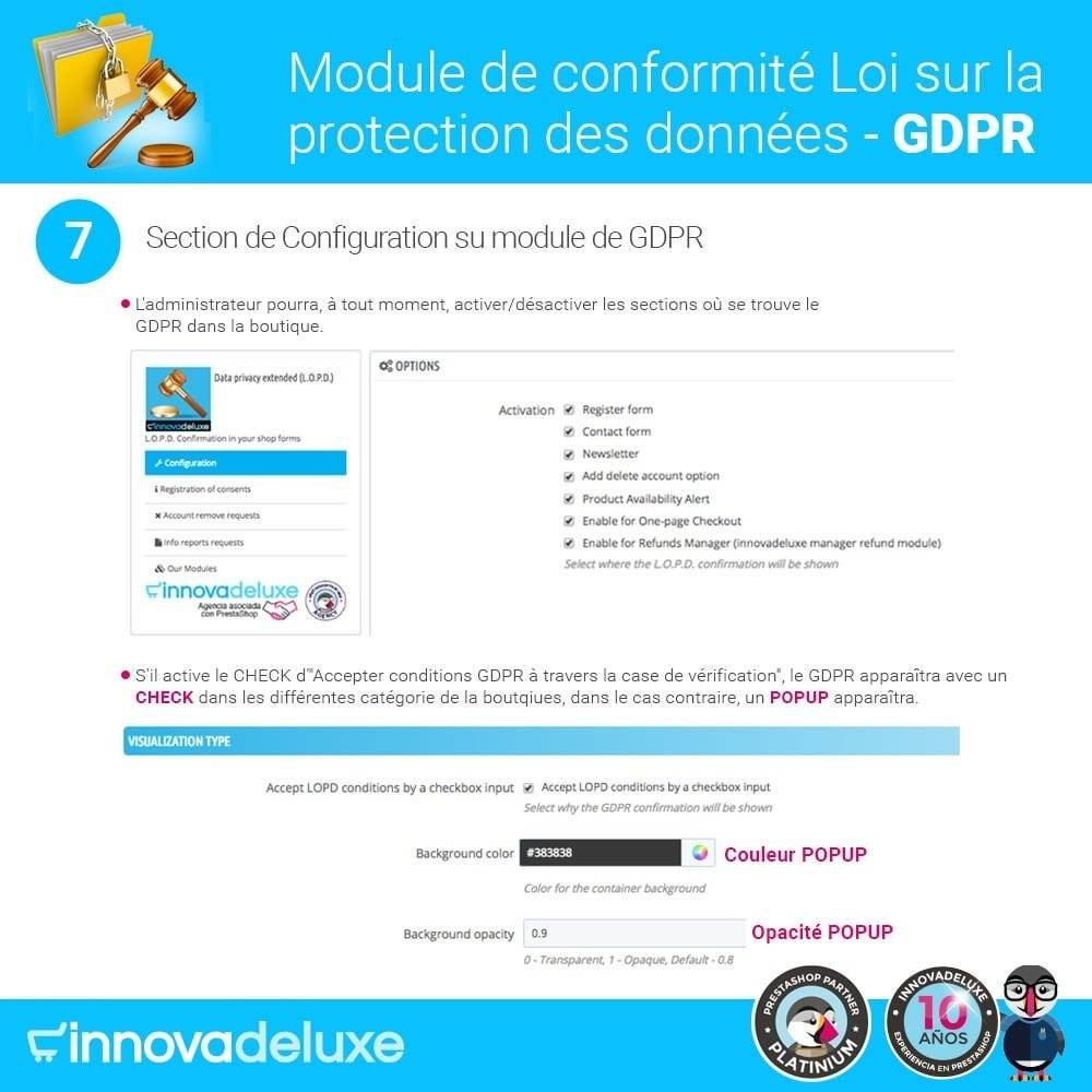 bundle - Législation - pour l'accomplissement des normes légales GDPR - 12
