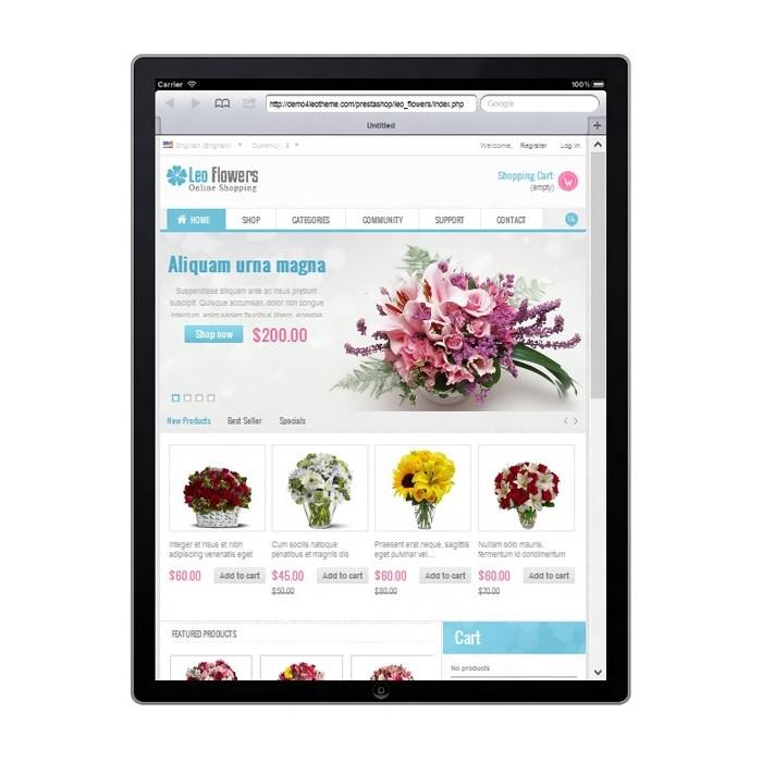 theme - Cadeaux, Fleurs et Fêtes - Leo Flower - 2
