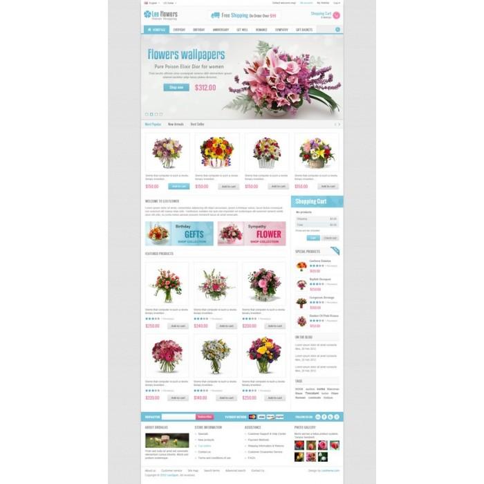 theme - Cadeaux, Fleurs et Fêtes - Leo Flower - 6