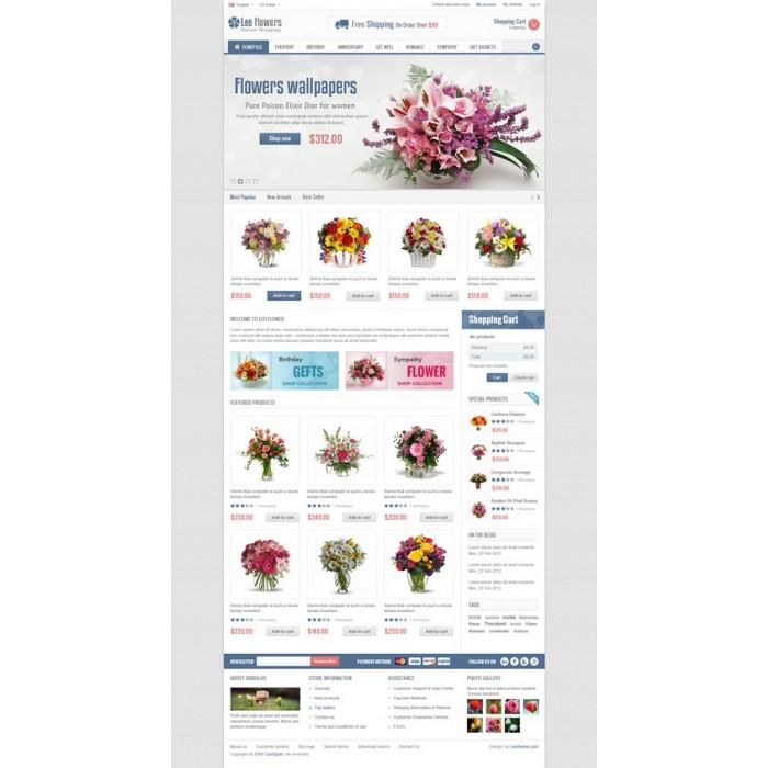 theme - Cadeaux, Fleurs et Fêtes - Leo Flower - 7
