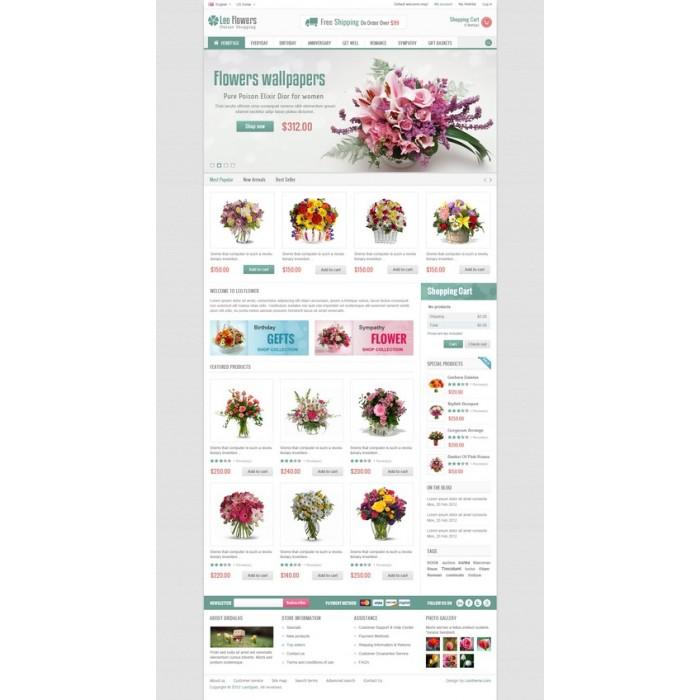 theme - Cadeaux, Fleurs et Fêtes - Leo Flower - 9